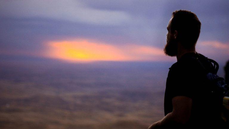 Traveling at dusk